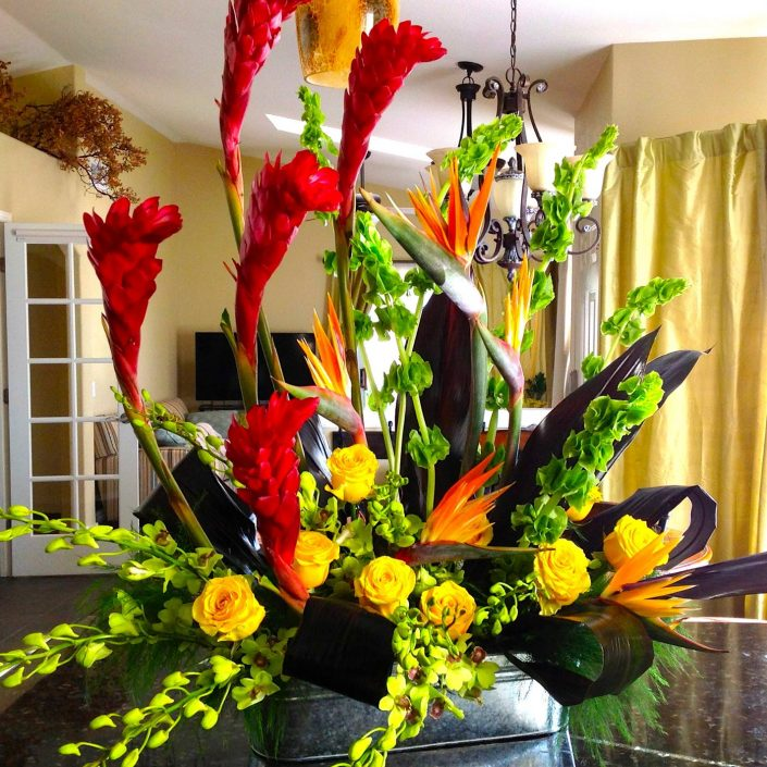 Modern life celebration flowers