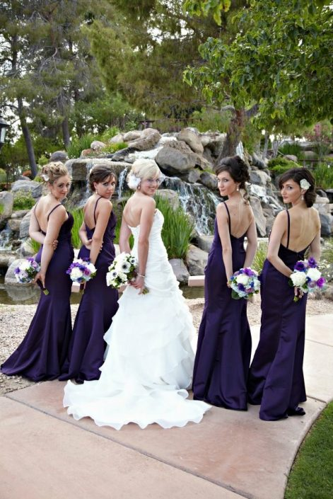 Eggplant purple wedding