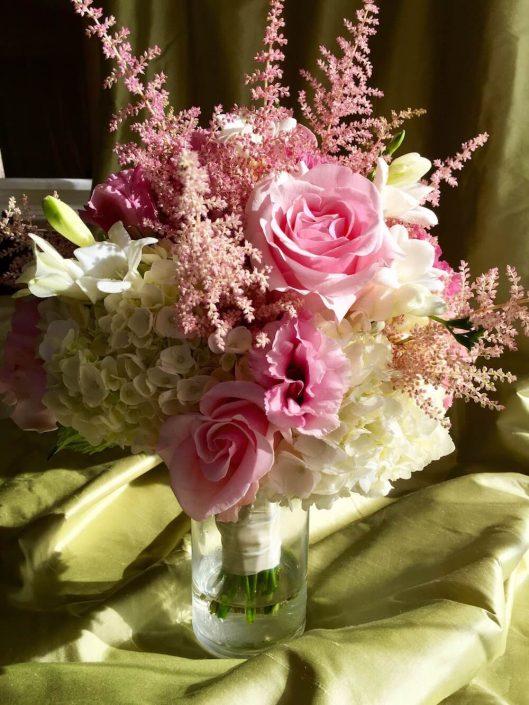 Light pink hydrangea roses astilbe